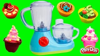 getlinkyoutube.com-Just Like Home Cooking Playset How to Make Cupcakes Play Doh Cakes Toy Food Toy Videos