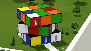 getlinkyoutube.com-The Sims 3, House building - Rubik's cube house
