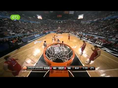 Euroleague Basketball 2012 Final: CSK vs Olympiacos Piraeus 61- 62 [ The Last 5 Minutes]
