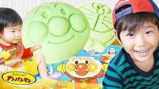 getlinkyoutube.com-アンパンマン プールで砂場遊び おうちで砂場 プレイサンド そうちゃん Anpanman Pool and Play Sand Toy for Kids' Playtime | KidsOfNinja