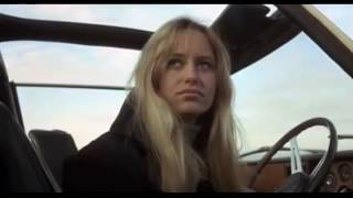 Susan George upskirt. Flash of knickers in Straw Dogs (1971)