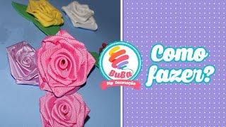 getlinkyoutube.com-Como Fazer Flor de Cetim - Rosa de Fita Cetim (satin ribbon rose)