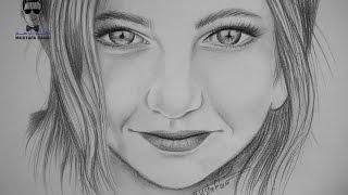 getlinkyoutube.com-طريقة رسم وجه لفتاة صغيرة بالرصاص للمبتدئين