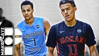 getlinkyoutube.com-Trae Young and Gary Trent Jr. Put on Historic Performance! Both Score 35+ in Peach Jam Face Off