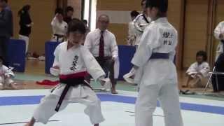 getlinkyoutube.com-JKA Mahiro & Miyu kihonipponn 協会県大会 万優&美優組手決勝戦