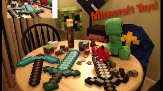 getlinkyoutube.com-Minecraft toy collection