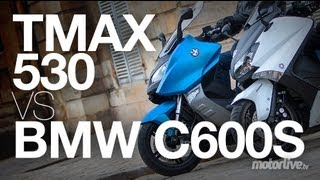 getlinkyoutube.com-Duel Yamaha Tmax 530 vs BMW C600S