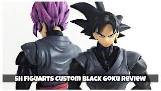 getlinkyoutube.com-SH Figuarts Bandai CUSTOM Black Goku Dragon Ball Super Action Figure Review Tamashii Nations