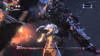 getlinkyoutube.com-【ブラッドボーン】炎の対獣回転ノコギリ vs 顔なし獣血の主【Bloodborn / Whirligig Saw vs Headless Bloodletting Beast】