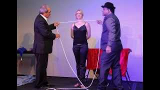 getlinkyoutube.com-Spirit cabinet illusion by Magician Sumeet Bhandari
