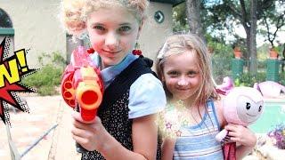 getlinkyoutube.com-KID SUPERHEROES with the BRIGHTLINGS versus the the Evil Superhero in a real life nerf war!