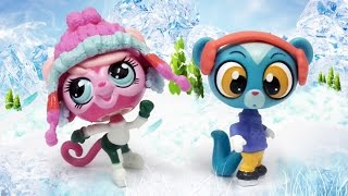 getlinkyoutube.com-Littlest Pet Shop Winter Pet Pair, Minka Mark and Sunil Nevla, Opening and Review