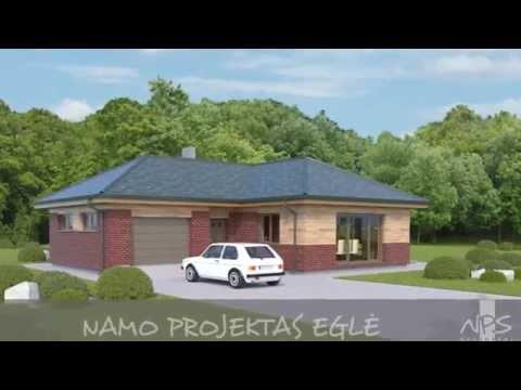 Vieno aukšto namo projektas Eglė | NPS projektai - namų projektavimas, statyba