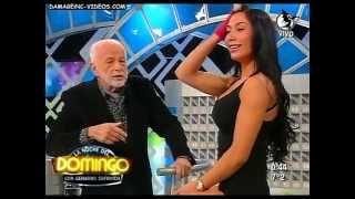 getlinkyoutube.com-Belen Lavallen La Noche Del Domingo Shorts Top Black