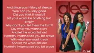 GLEE Brave with lyrics