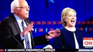 getlinkyoutube.com-We're tired of hearing about your damn emails!!! Bernie Sanders & Hillary Clinton 1st Debate