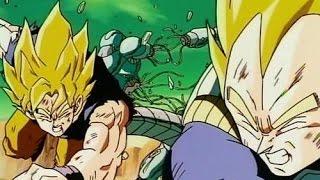 getlinkyoutube.com-Goku & Vegeta vs Metal Cooler Faint