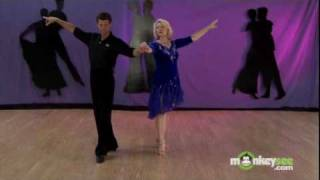 getlinkyoutube.com-Ballroom Dancing - Cha Cha Crossover Break with Walk Around Turn
