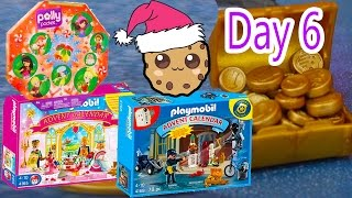 getlinkyoutube.com-Polly Pocket, Playmobil Holiday Christmas Advent Calendar Day 6 Toy Surprise Opening Video