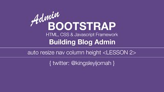 Bootstrap 3 Tutorials [COMPLETE] - Building a blog admin video tut for beginners # 2