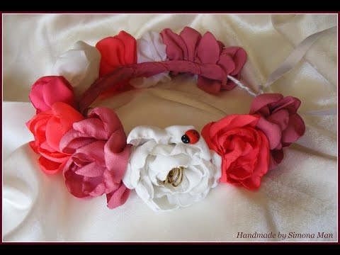 Coronite cu flori artificiale realizate handmade by Simona Man/ Handmade flower crowns