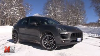 getlinkyoutube.com-NEW PORSCHE MACAN S DIESEL 2015 - FIRST SNOW TEST DRIVE - ENG ITA SUBTITLES