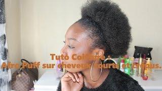 getlinkyoutube.com-Tuto Coiffure : Afro Puff sur cheveux courts et crépus.