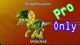 getlinkyoutube.com-LEGO Jurassic World-How To Unlock [Dilophosaurus Dinosaur] Character and Find the Location
