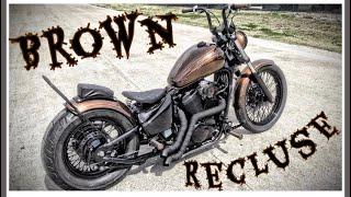 """getlinkyoutube.com-""""Brown Recluse"""" 2003 Honda Shadow VLX 600 Bobber"""