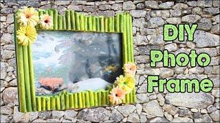 getlinkyoutube.com-How To Make Photo Frame at Home , Handmade using Waste Material