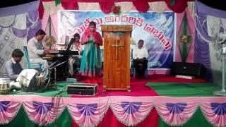 pandugaleno gadichipovuchunavi sung by   Ratna kumari in I.P.C church mettings in chavali 2017may 17 width=