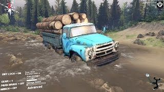 getlinkyoutube.com-Spintires - ZIL 130 delivering logs - Coast map