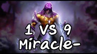 getlinkyoutube.com-1 VS 9 Antimage Miracle-
