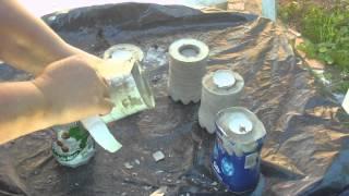 getlinkyoutube.com-Beton giessen - DIY - Teelichthalter in Plastikflaschen