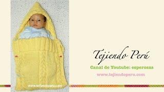 getlinkyoutube.com-Porta bebé en dos agujas
