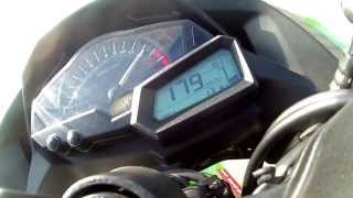 getlinkyoutube.com-Kawasaki Ninja 300 TOP SPEED - 191 km/h 118 mph
