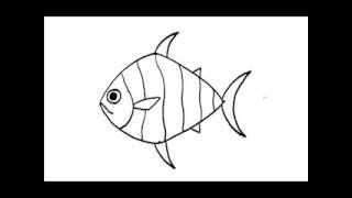 สอนวาดรูป การ์ตูน ปลา อย่างง่าย