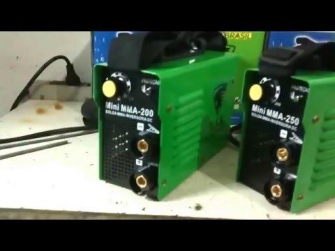 Máquina de Solda Inversora Mini MMA 200A e MMA 250A