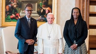 PRESIDENT KAGAME MEETS POPE FRANCIS