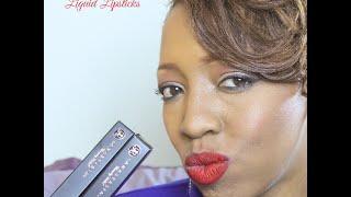 getlinkyoutube.com-Anastasia Beverly Hills Liquid Lipstick   Vamp and American Doll Demo