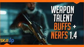 The Division | The Complete List of Weapon Talent Buffs & Nerfs for Patch 1.4 (PTS)