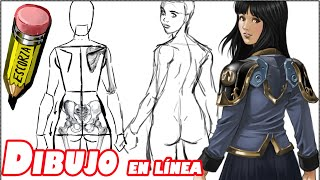 getlinkyoutube.com-como dibujar una chica al girar el cuerpo