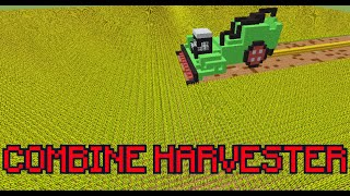 getlinkyoutube.com-working Combine Harvester in Vanilla Minecraft ! ( No Mods )