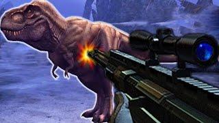 getlinkyoutube.com-Tyrannosaurus Rex Vs Sniper - Dino Hunter Deadly Shores