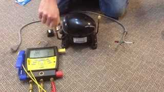 getlinkyoutube.com-How To Make a Vacuum Pump from Old Compressor