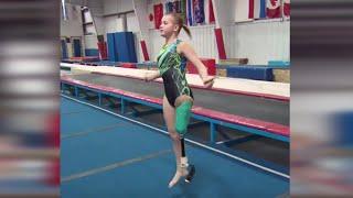 getlinkyoutube.com-One-Legged Gymnast Overcomes the Odds