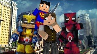 Minecraft: QUANTOS SUPER HERÓIS EU CONSIGO FAZER EM 5 MINUTOS? (BUILD BATTLE)