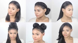VERSATILE Lace Frontal Sew In Tutorial | No Hair out , No Glue
