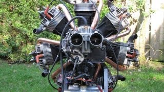 getlinkyoutube.com-Making and start up of a radial engine of VW parts