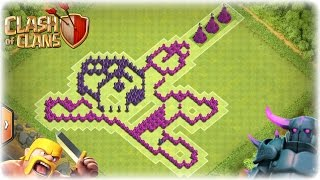 getlinkyoutube.com-Clash of Clans Awesome TH8 Megaman Troll Base!